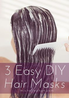 3 Easy DIY Hair Masks for Dry, Damaged Hair. Michelle Phan is my go to girl for all things beauty. Hair Masks For Dry Damaged Hair, Diy Hair Mask, Diy Mask, Natural Hair Mask, Natural Hair Styles, Long Hair Styles, Hair Treatment Mask, Hair Treatments, Michelle Phan