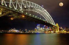 Super moon in Sydney, Australia