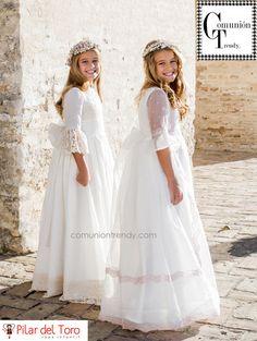 Vestidos de Comunion, Traje de Comunion, Pilar del Toro, Comunion Trendy, Tendencias trajes de Comunion