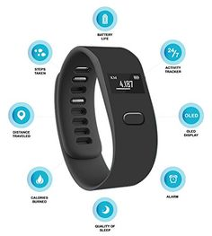 cool chase ii wireless activity wristband black large with smart silent vibration alarm