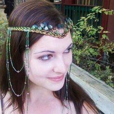 Elven Forest Woodland Headdress   Thyme2dream - Wedding on ArtFire