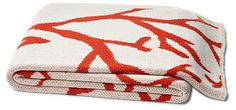 Coral Cotton-Blended Throw, Orange | Summer Fling | One Kings Lane