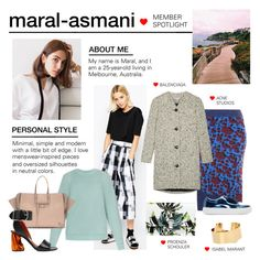 """""""Member Spotlight: Maral-asmani"""" by polyvore ❤ liked on Polyvore featuring ASOS, Acne Studios, Balenciaga, Isabel Marant, Proenza Schouler, women's clothing, women, female, woman and misses"""