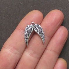 8 Angel Wings Charms Antique Tibetan Silver by BohemianFindings, $2.50
