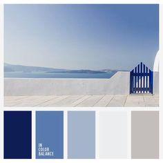 Color Palette by In Color Balance Colour Pallete, Colour Schemes, Color Combos, Beach Color Schemes, Coastal Color Palettes, Coastal Colors, Blue Colour Palette, Color Blue, Nautical Paint Colors