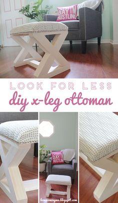Look for Less X-Leg Ottoman