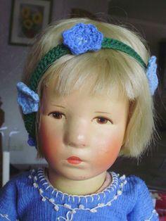 Wunderschöne tadellose alte Käthe Kruse Puppe mit Stoffkopf in 52cm aus den 40er | eBay