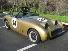 1959 Austin Healey Bugeye Sprite - nearly identical to my fathers race edition Bugeye, but his was red - classic either way.