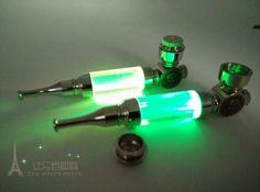 1pcs MINI Pipe Metal Smoking Pipe Weed Pipe With LED Flash Light sending screens