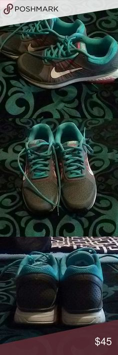 Nike Dart XII Only worn once. Comfy but to small for me. Loved the different colors and they need a new home. Nike Shoes Athletic Shoes