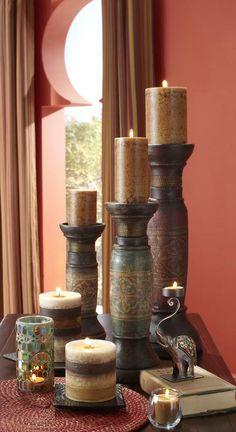 Light Pier 1 Patchouli Candles for a harmonious fragrance