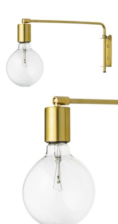 Bring a touch of 19th century magic to a transitional space. The allure of gold electroplated finishing on this Helmsley Wall Lamp matches its elegant form, featuring a long neck and a cylindrical cano...  Find the Helmsley Metal Wall Lamp, as seen in the Bohemian Meets Mid-Century Collection at http://dotandbo.com/collections/bohemian-meets-mid-century?utm_source=pinterest&utm_medium=organic&db_sku=118707
