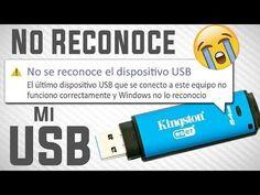 Mi PC no Reconoce mi MEMORIA USB (solucion) - YouTube