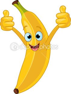 Cheerful Cartoon banana character — Stock Vector © Dazdraperma #9011386