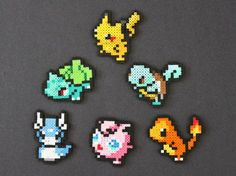 Pokemon Perler Bead Pixel Art Sprites by kelseyrushing on Etsy Pyssla Pokemon, Hama Beads Pokemon, Diy Perler Beads, Perler Bead Art, Pearler Beads, Fuse Beads, Perler Bead Designs, Art Perle, Pixel Beads