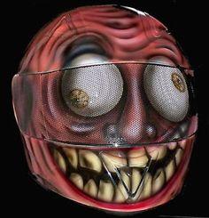 Custom Full Face Motorcycle Helmets | crazy face