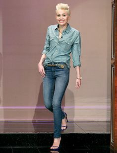 "She has never looked better.... Thx Miley.... Miley Cyrus' Denim on Denim Look on ""The Tonight Show with Jay Leno:"" So Hot or So Not?"