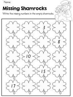 Patrick's Day Morning Work - free packet from TPT Preschool Math, Kindergarten Worksheets, Kindergarten Activities, Kindergarten Classroom, St Patrick Day Activities, March Crafts, St Patrick's Day, School Holidays, Thematic Units