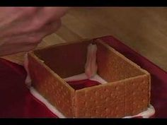 How to Make Graham Cracker Gingerbread Houses : Using Icing to Assemble a Graham Cracker Gingerbread House
