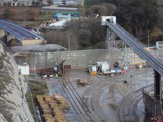 Fotografía de la Obra del acceso norte de la Alta Velocidad en Vigo, España cerca de Redondela