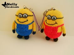 Nelly Handmade: Keychain minions. Master Class