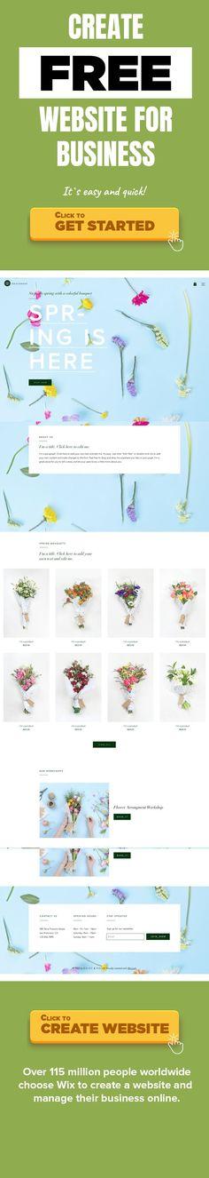 Blomsterbutik Mode & kläder, Hem & dekoration Blomsterbutiker, florister och trädgårdsbutiker. Rosor är röda, violer är blå. Våren är påväg och denna blomstermall är redo för dig! Visa upp det ljusa och vackra sortimentet av dina buketter med ett fantastiskt galleri, och locka kunder till din butik som bin dras till nektar.