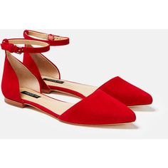 Lafayette 148 New York Marina Suede d'Orsay Flat (19.045 RUB) ❤ liked on Polyvore featuring shoes, flats, red rock, red d orsay flats, red shoes, flat shoes, ankle strap flats and d'orsay flats