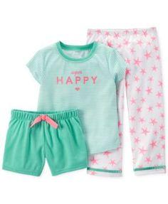 Carter's Baby Girls' 3-Piece Super Happy Pajamas