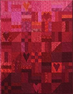 """I created this """"Go Red for Women"""" quilt that typifies the passion, power, and energy of the movement to wipe out heart disease!"""
