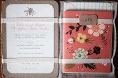 Wedding invitations- DIY by the couple• New York Picnic Wedding