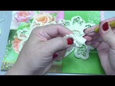 3 Часть МК вязания авторского Элемента с открытки - YouTube