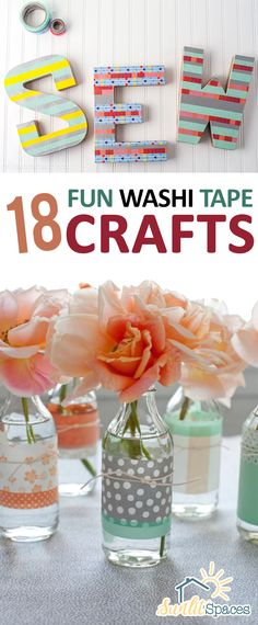 Washi Tape Crafts, Fun Craft Projects, Fun Washi Tape Craft Projects, How to Decorate With Washi Tape, Easy Crafts, Easy Crafts for Less, Quick Crafts to Make, Popular Pin