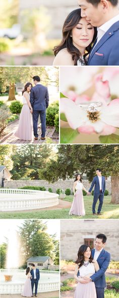 Formal Navy Suit and Tulle Skirt Maymont Richmond Engagement Pictures | by Katelyn James Photography