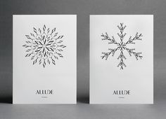 Xmas CardsA new Allude snowflake is produced every year to celebrate the season.