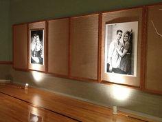 wedding reception at the church - uplight oversized photos