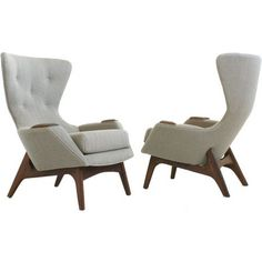 Wingback Chairs by Adrian Pearsall and Craft Associates-This design is bad ass. My Furniture, Retro Furniture, Furniture Design, Take A Seat, Mid Century Furniture, Chair Design, Adrian Pearsall, Wingback Chairs, Armchairs