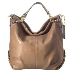 """Coach Brooke leather hobo handbag purse In excellent condition. Carried a handful of times.                                                                        - Soft pebbled leather - Inside zip pocket - Cellphone/multifunction pockets - Fabric lining - Zip-top closure - Shoulder strap with 14"""" drop - Double handles with 8"""" drop for handheld carrying - 14 1/2 (L) x 13 3/4 (H) x 4 1/2 (W) Coach Bags Hobos"""