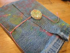easily amused, hard to offend . . .: make your own simple bound art journal with fabric cover