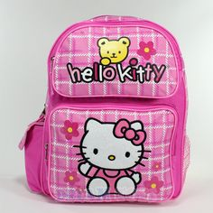 6f915c4b66 14  Sanrio Hello Kitty and Teddy Pink Backpack - Bag School Girls Kids - MED