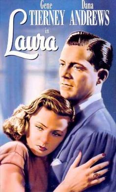 Laura Gene Tierney and Dana Andrews Great classic film noir Old Movies, Vintage Movies, Great Movies, Movie Info, Movie Stars, Movie Tv, Classic Film Noir, Classic Movies, Laura 1944