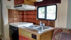 1991 Toyota Motorhome RV Remodel Toyota Motorhome, Rv, Kitchen Cabinets, Home Decor, Motorhome, Decoration Home, Room Decor, Cabinets, Home Interior Design