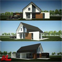 Znalezione obrazy dla zapytania huis modern landelijk hellend dak