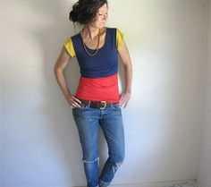 Primary Color Block Top, try more modern sleeves