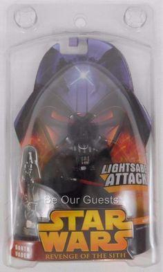 Hasbro Star Wars E3 Revenge Of The Sith 11 Darth Vader Lightsaber Attack Action Figure for sale online