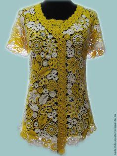 Блузки ручной работы. Блуза летняя кружевная, майка ажурная, женский топ, летняя одежда. Надежда Тарубарова. Интернет-магазин Ярмарка Мастеров.