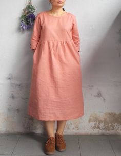 Hey, I found this really awesome Etsy listing at https://www.etsy.com/listing/486699873/linen-dress-relax-linen-dress-fall