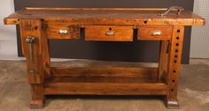 French Country Style Carpenter's Workbench 2