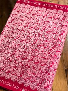 Roses Eros My Love baby wrap made in Scotland by Oscha Slings from organic  combed cotton 83cf1f8113d