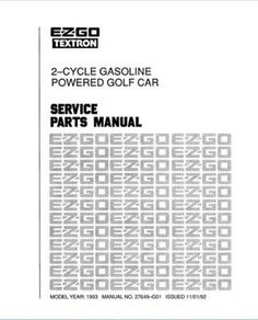 Ezgo 28810g01 2004 Service Parts Manual For E Z Go
