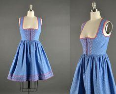 Vintage 1960s Dress / Dirndl Dress / 60s Dress / full skirt dress on Etsy, $110.00